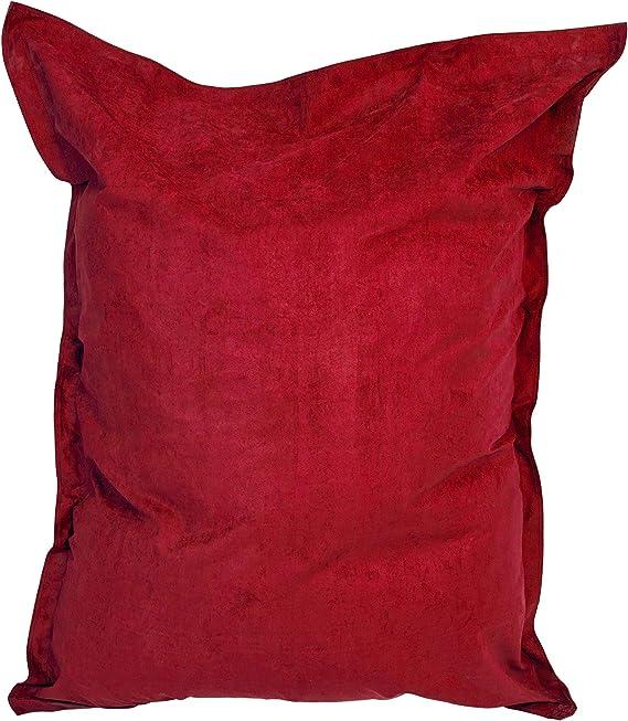 Image of Lumaland Puf Microfibra XXL 380l Relleno 140 x 180 cm Asiento Gigante para el Suelo - Rojo
