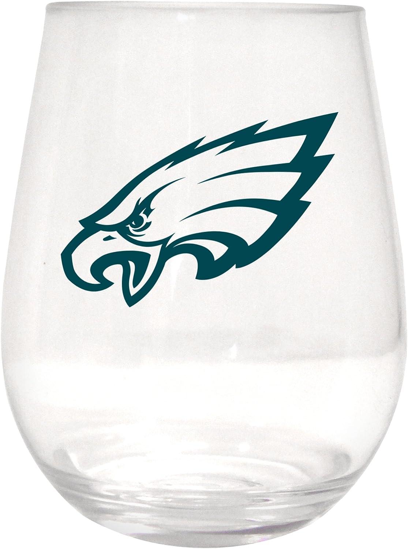 NFL Philadelphia Eagles Plastic Curved Beverage Glass, 20-ounce
