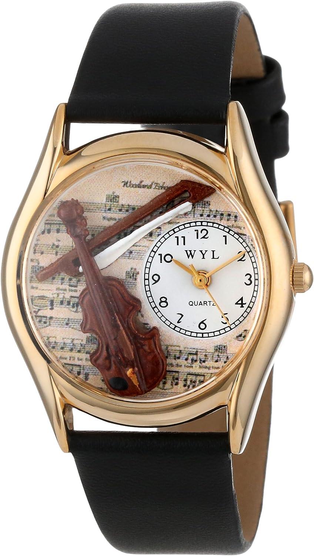 Whimsical Watches C-0510002 - Reloj analógico de Cuarzo Unisex, Correa de Cuero