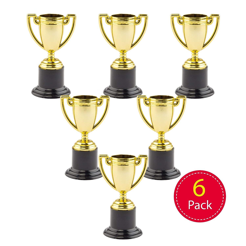 Baker Ross Mini Trofeos de Oro para Niños (Paquete de 6) Juguetes ...