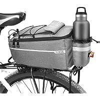 Augot Fietstas, 10L bagagedrager, fietskoffer, waterdichte fietstas, bagagedragertas, Fiets Achter Bagagetas, Grijs