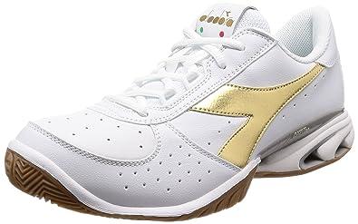 565e2b25 Amazon.com | Diadora Speed Star K Elite AG Men's Wh/Gd 8.0 | Tennis ...
