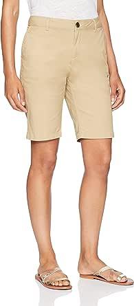 "Amazon Essentials Women's 10"" Inseam Solid Bermuda Short Shorts"