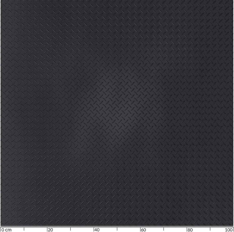 Goma SBR. 50 x 100cm 100 cm Aspecto de chapa. Alfombrilla de goma con puntos de anclaje ANRO