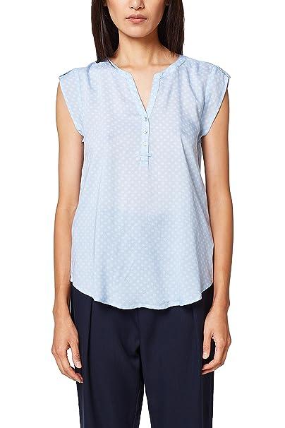 Esprit 998ee1f804, Blusa para Mujer, Azul (Light Blue 440), 36 (