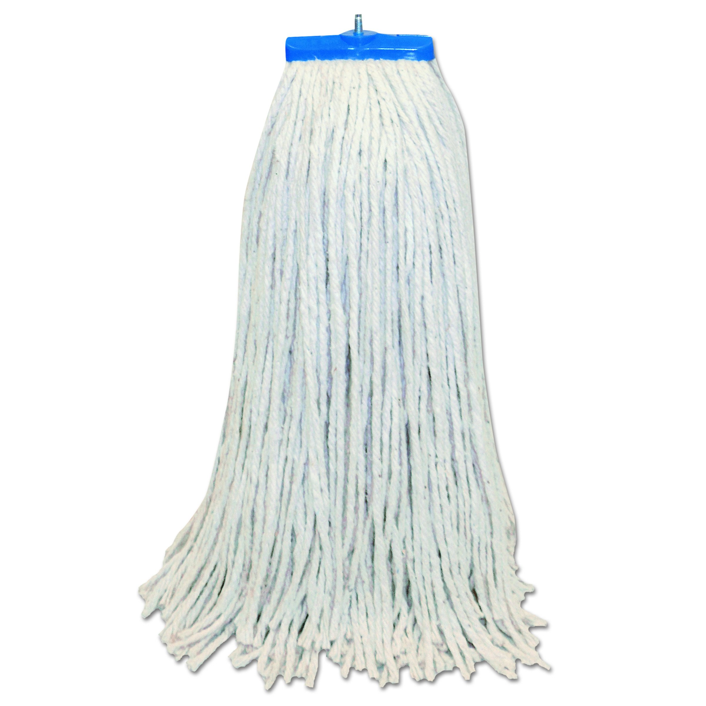 Boardwalk CM22024 Mop Head, Lie-Flat Head, Cotton Fiber, 24 oz, White (Case of 12)