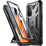Poetic Spartan Series Designed for OnePlus 9 5G Case, Full-Body Rugged Shockproof Protective Cover with [Premium Leather Text