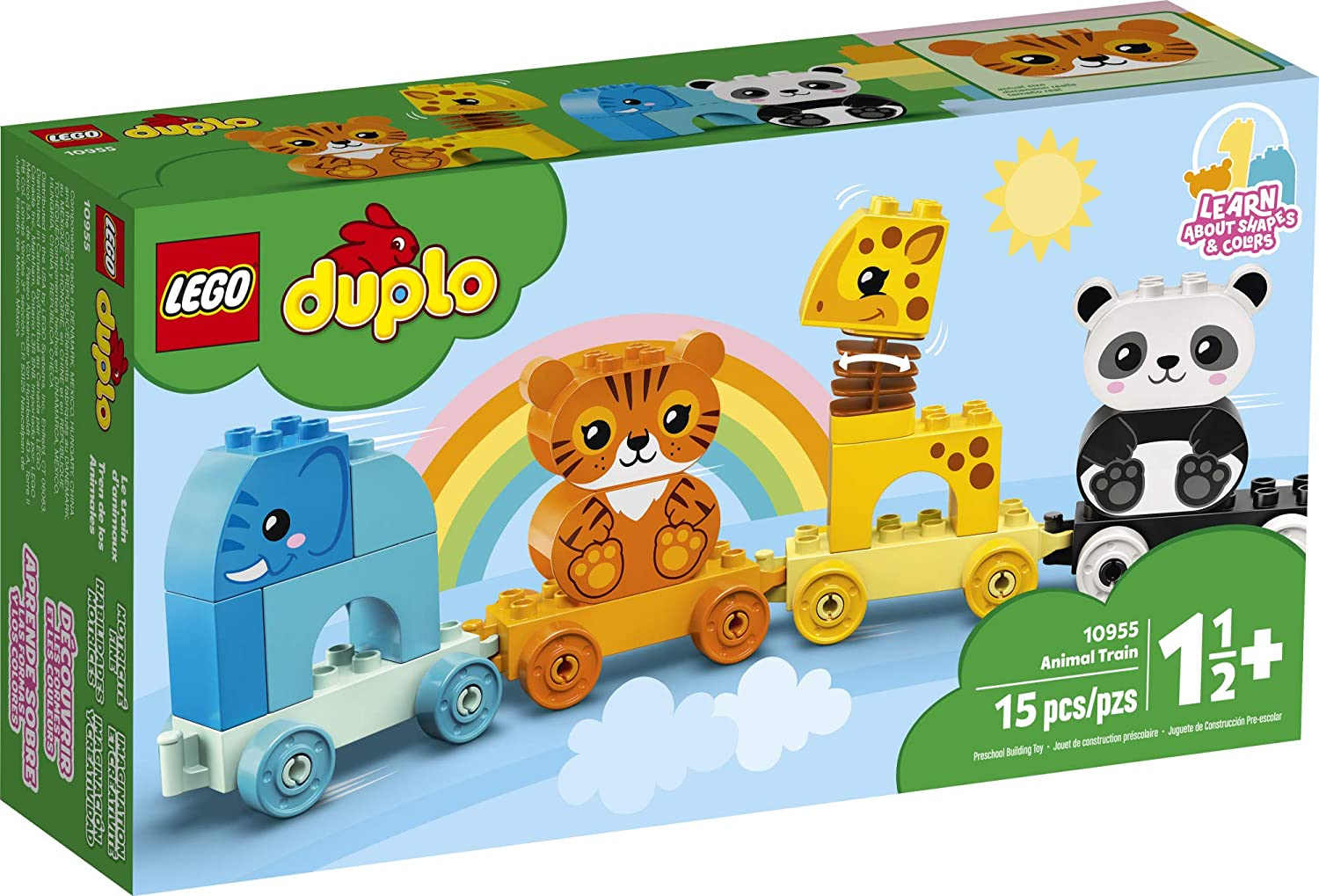 LEGO DUPLO My First Animal Train 10955 Building Toy 15 Pieces