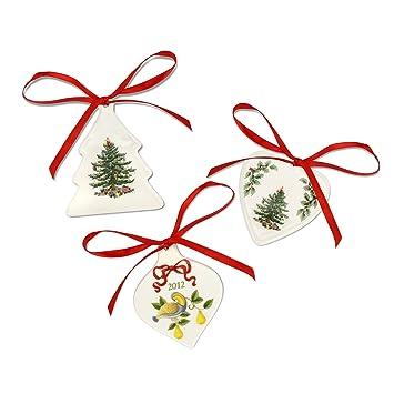Spode Christmas Tree Ornaments, Set of 3