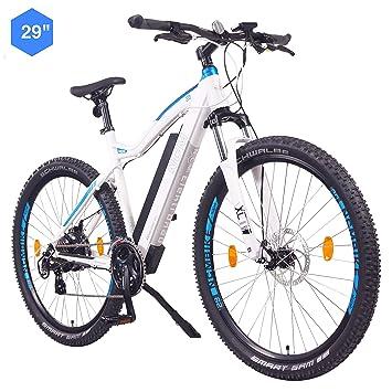"""NCM Moscow Bicicleta eléctrica de montaña, 250W, Batería 48V 13Ah 624Wh (Blanco 29"""""""