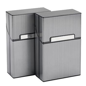 LUWANZ 2X Caja de Cigarrillo, Cigarette Case de la aleación de Aluminio con el Color