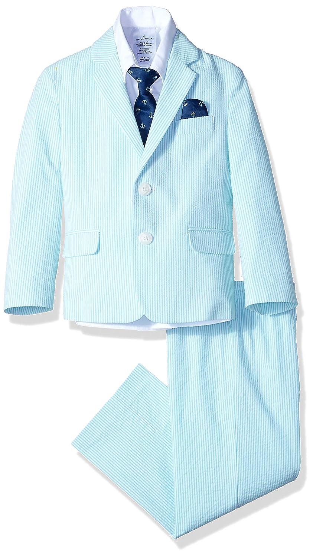 Tie Jacket and Pants Nautica Boys 4-Piece Suit Set with Dress Shirt