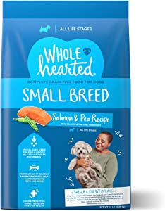 WholeHearted Grain Free Small Breed Salmon and Pea Recipe Dry Dog Food for All Life Stages, 14 lbs.