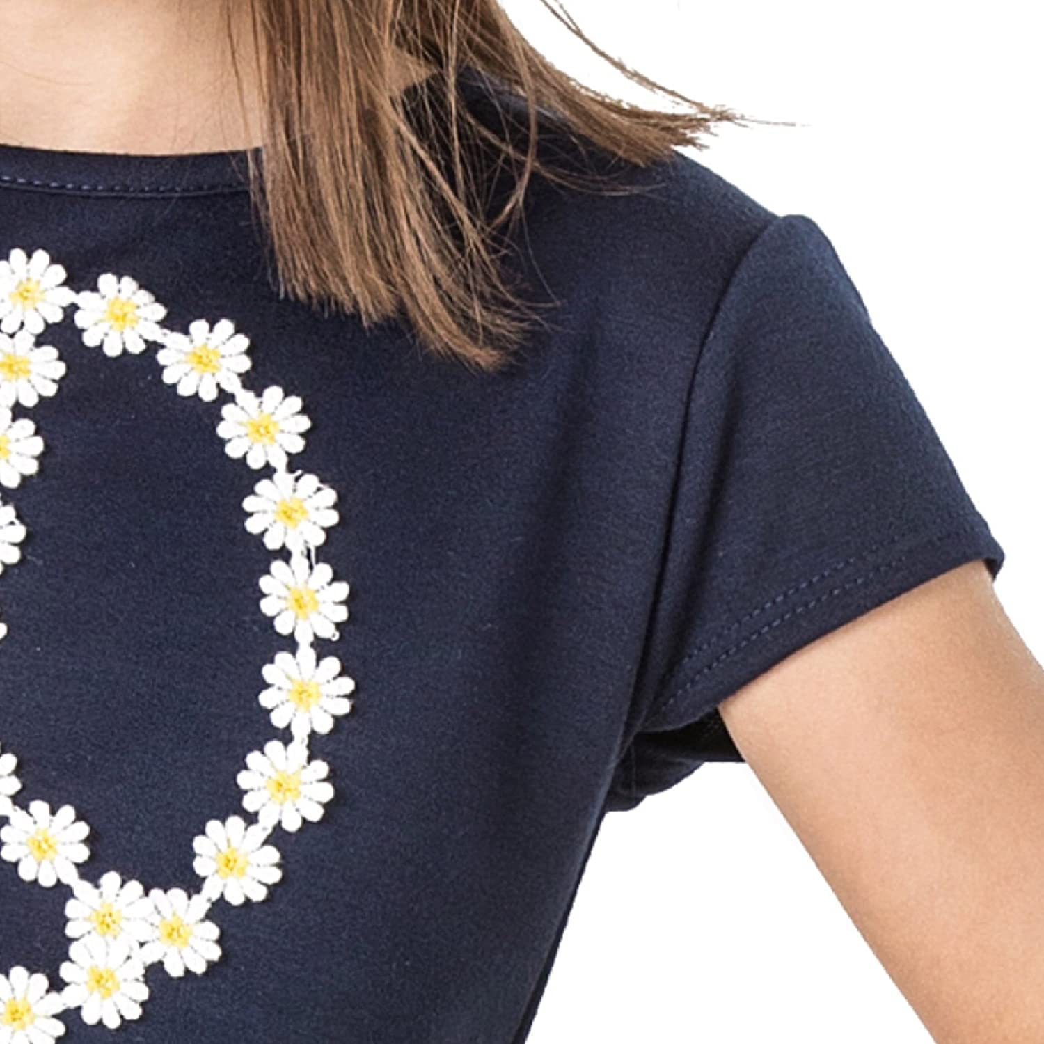 Shelby Round Neck Daisy Trim Lace Ruffle Tees Clothes Made in USA FASHION X FAITH Girls Shirts Tops