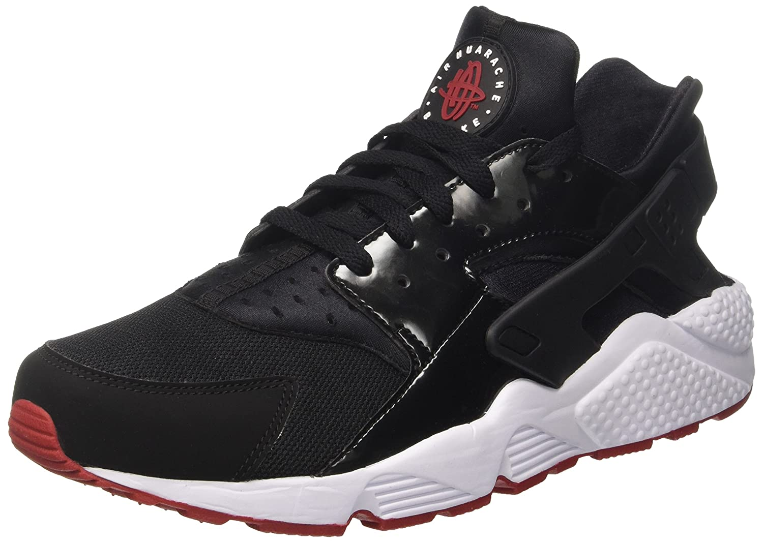 half off 9879f f1cd2 Nike Air Huarache Bred Men Lifestyle Casual Sneakers Black Gym Red - 12   Buy Online at Low Prices in India - Amazon.in