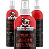 Anti Chew Dog Training Spray: No Chew Bitter Spray and Pet Deterrent for Dogs and Cats - Behavior Correction to Stop Chewing