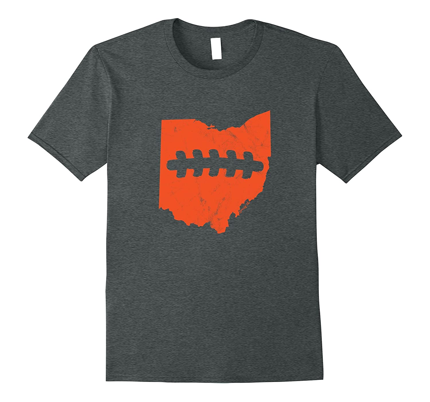 Ohio outline football laces Cleveland Football Fan Shirt-BN