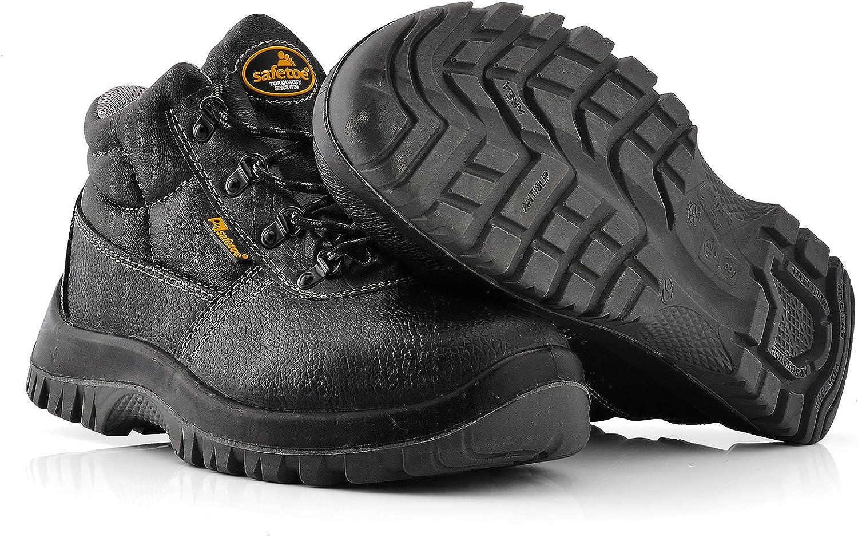 Botas de Seguridad Hombre Trabajo SAFETOE 8356B Calzados de Trabajo Impermeables Color Negro