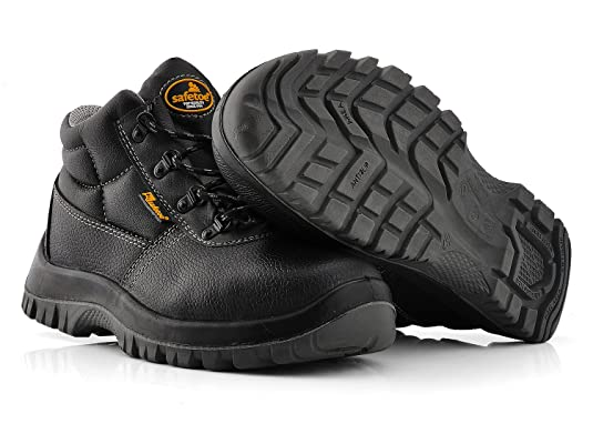 Amazon.com: SAFETOE Men Steel Toe Cap Lightweight Leather Safety Shoes Mens Footwear: Shoes
