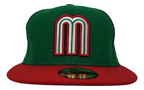 018096465a93d MEXICO WORLD BASEBALL CLASSIC GREEN RED NEW ERA 59FIFTY FITTED HAT CAP (6 7