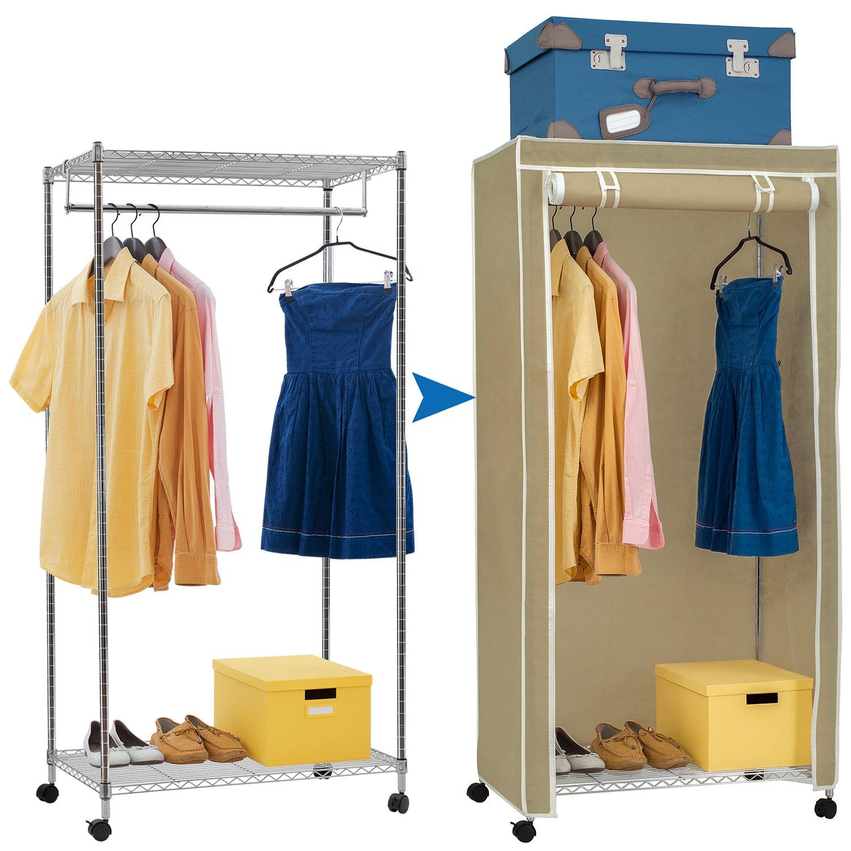 Amazoncom Artmoon Buffalo Heavy Duty Double Shelf Garment Rack On