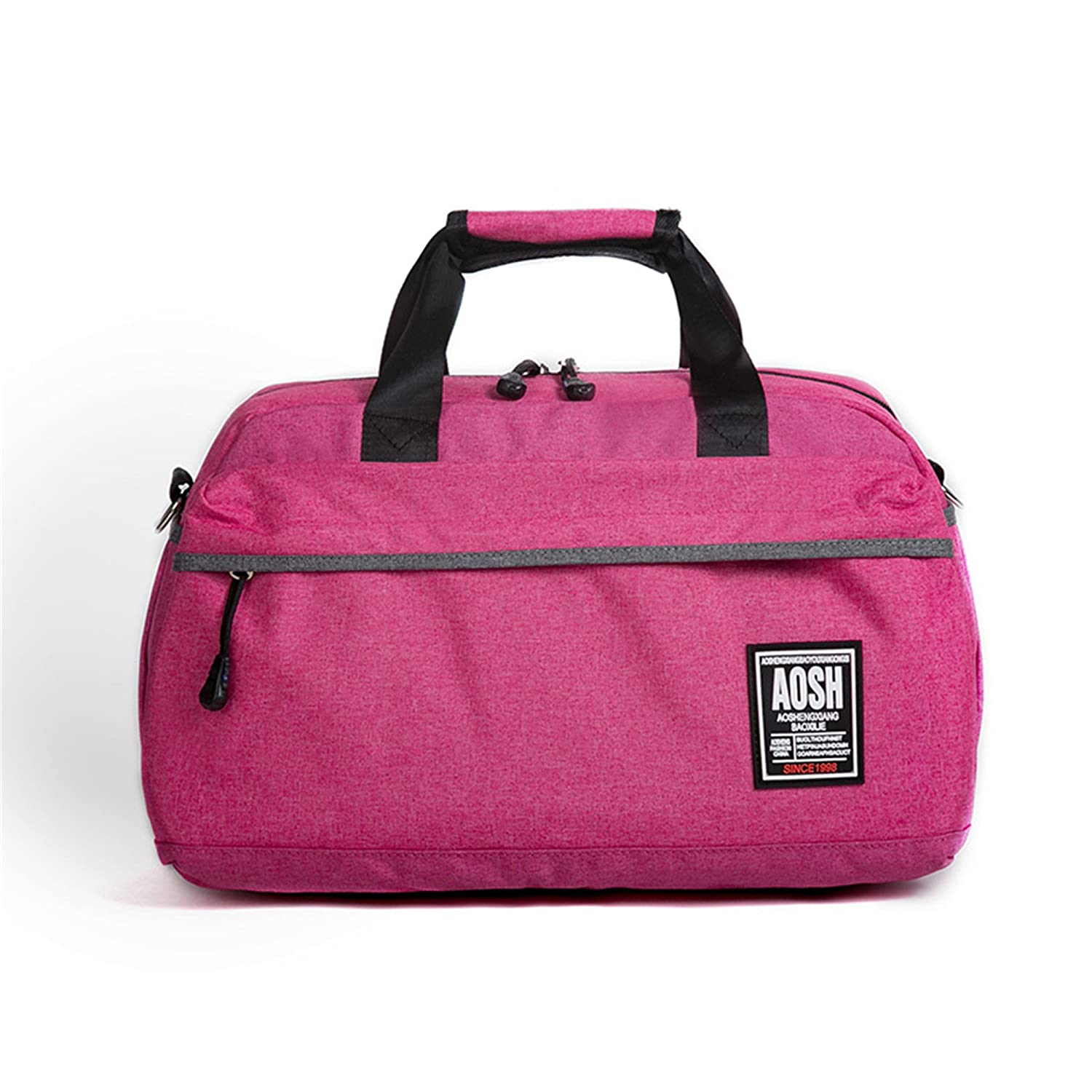 Flax Cotton Gym Bag For Men And Women Fitness Training Sports Handbag Solid Color