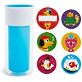 Munchkin Miracle 360 Insulated Sippy Cup, Includes Stickers to Customize Cup, 9 Ounce, Blue