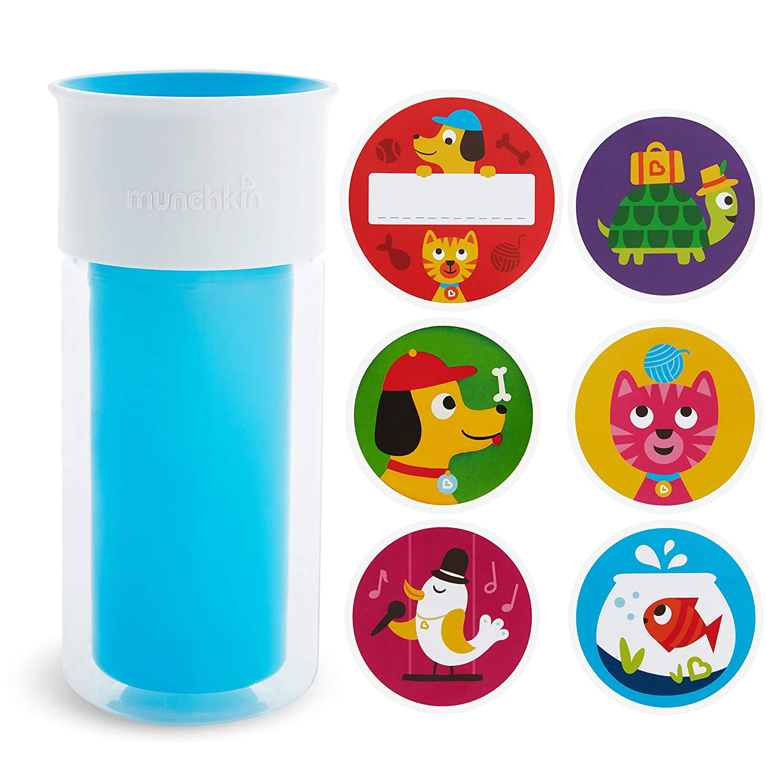 Munchkin Miracle 360 Insulated Sippy Cup, Includes Stickers To Customize Cup