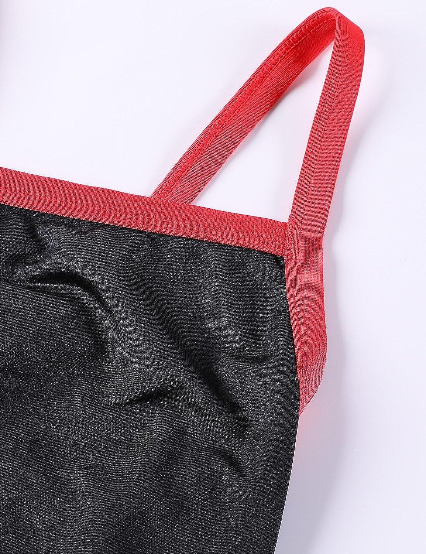 SYROKAN Womens Sleek Solid Elite Training Sport Athletic One Piece Swimsuit