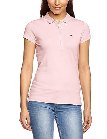 Tommy Hilfiger Women s NEW CHIARA STR PQ POLO SS Short Sleeve Polo Shirt 5e644c56d8