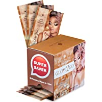 Best Tanning Towels Set: Double the Quantity (20 towelettes) for Half the Price! Sunless Tanner Towel Solution for Face and Half Body. Self-Tan Indoor Away from the Sun Gives Gold Glow for Men & Women