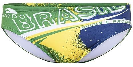 Turbo Brasil - Bañadores Hombre - amarillo/verde Talla L | US 34 2017