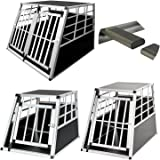97 x 90 x 69.5cm Hengda Aluminium Dog Transport Box Pet Animal Lockable Car transport Crate