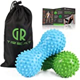 GUARD & REVIVAL TREAT Foot Massage Roller Ball - Exercise Ball Massager for Plantar Fasciitis - Great for Heel & Foot Arch Pain Relief (Blue & Green)