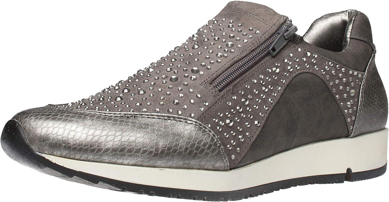 Fitters Footwear That Fits Damas Zapato Deportivo Megan imitación de Cuero Zapatilla Deportiva en Aspecto metálico Croco (EU,)