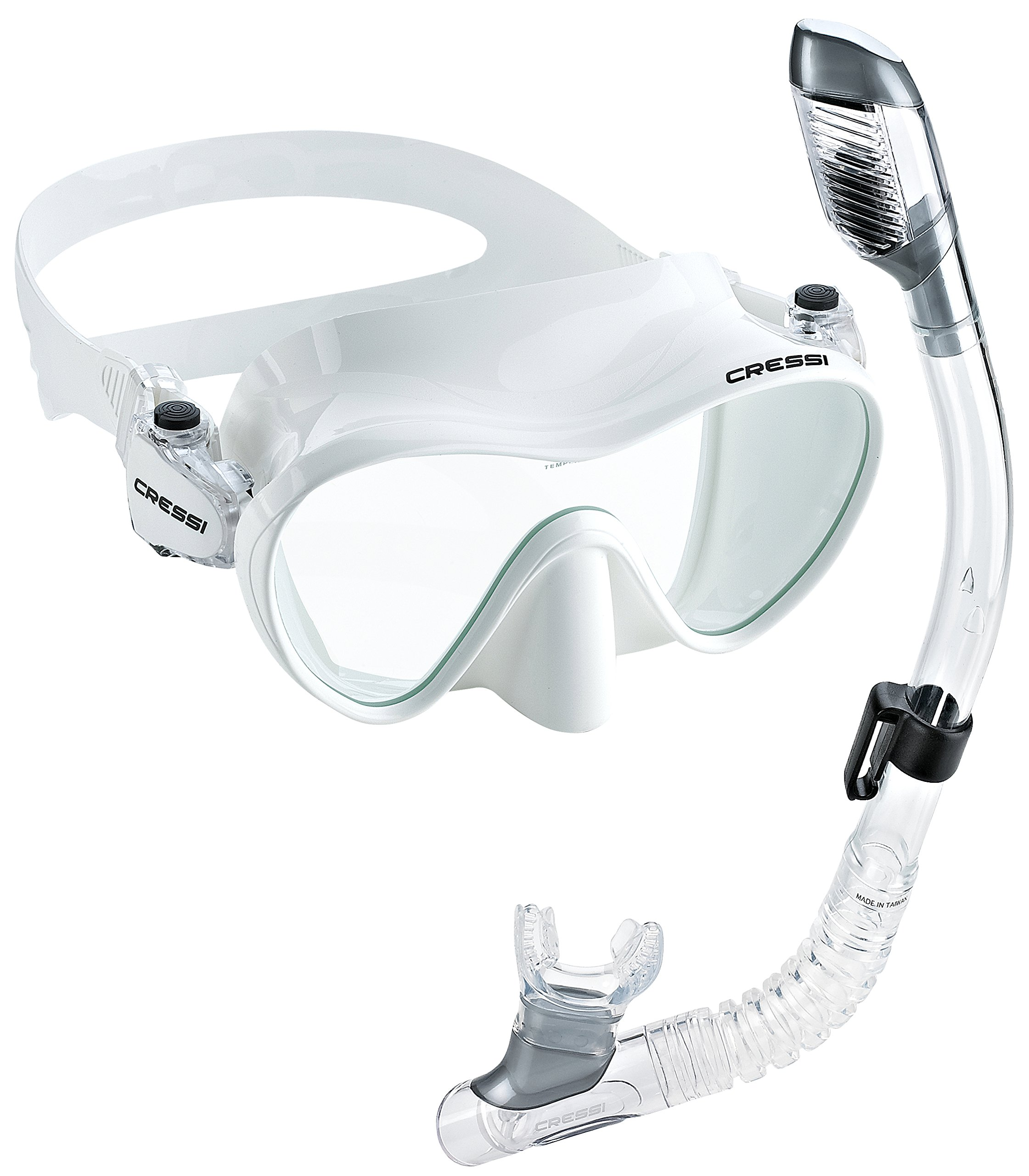 Cressi Junior Frameless Mask Dry Snorkel Set, White by Cressi