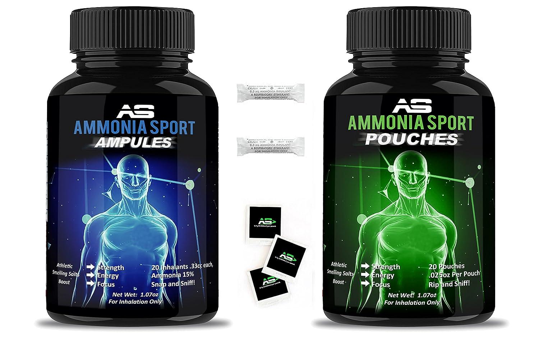 AmmoniaSport Sali profumati atletici - Ampolle (20) – Inalatore di Ammoniaca - [Sali Profumati / Inalatori di Ammoniaca] al carbonato di ammonio Firstar