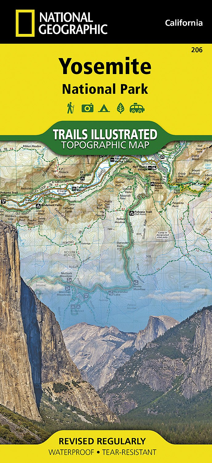 Yosemite National Park National Geographic Trails Ilrated Map National Geographic Maps Trails Ilrated 0749717012066 Amazon Com Books