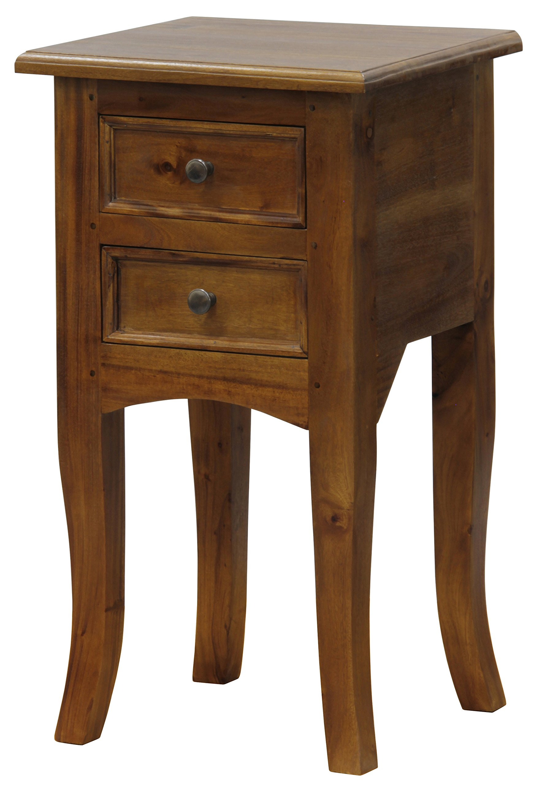 NES Furniture Fine Handcrafted Solid Mahogany Wood Amsterdam Plant Stand - 28 inches