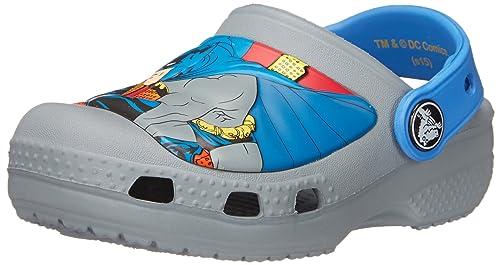 Crocs CC Batman Clog (Infant/Toddler/Little Kid),Concrete,4