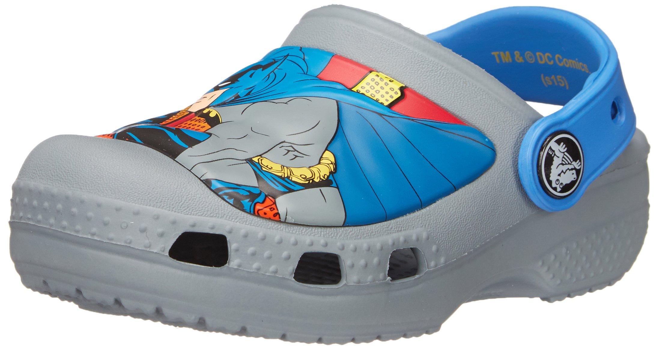 crocs CC Batman Clog (Infant/Toddler/Little Kid),Concrete,12 M US Little Kid by Crocs