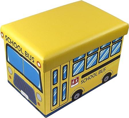 Sedile Imbottito Autobus 38 x 38 x 38 cm D/&D Quality Pouf portaoggetti Pieghevole Esterno Morbido Pelle Sintetica Scatola portaoggetti Quadrata