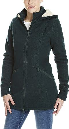 bench damen mantel bonded long velvet jacket