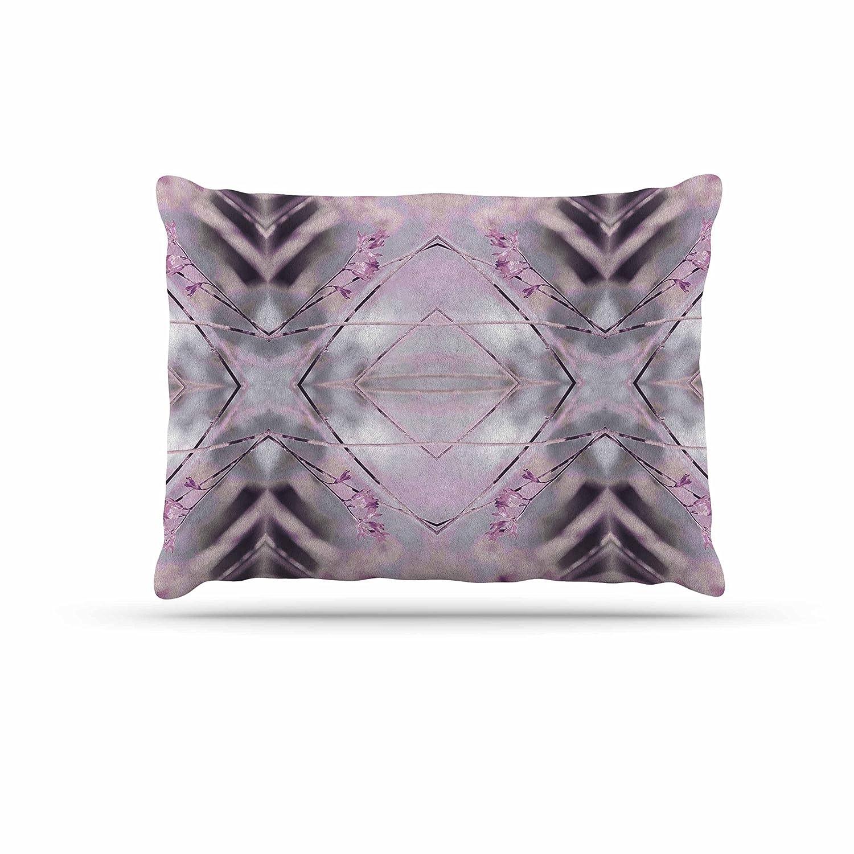 KESS InHouse Pia Schneider Pink Spangles No.8 Purple Balck Dog Bed, 30  x 40