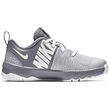 100% authentic 39529 d0cc2 Image Unavailable. Image not available for. Color  Nike Boy s Team Hustle  Quick Basketball Shoe, Cool Grey White Wolf ...