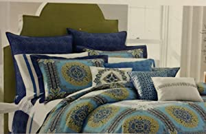 Nostalgia Home Fashions Blue Riviera Pillow Sham, King