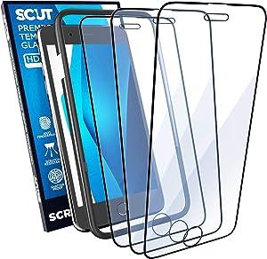 Screen Protector iPhone 8 Plus   iPhone 7 Plus   iPhone 6 6S Plus   Film Tempered Glass   Scratch Resistant Impact Shield Glass   Case Friendly   Anti fingerprint