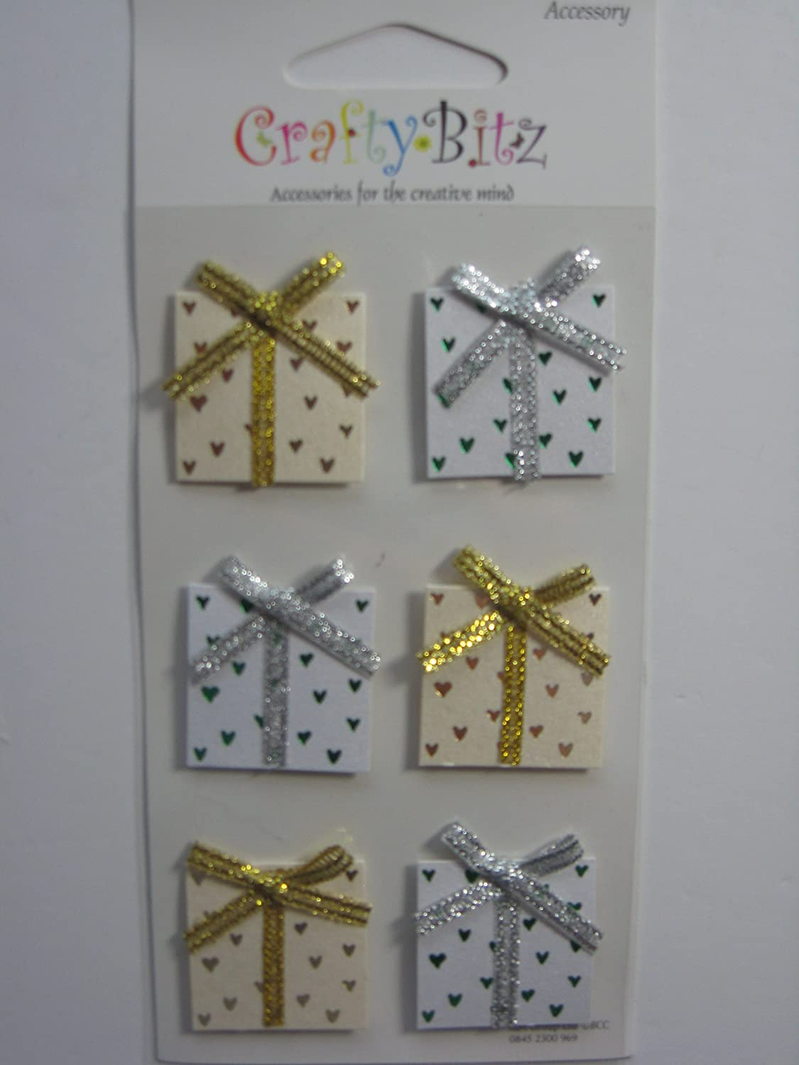 STICK ON EMBELLISHMENTS WEDDING GIFTS WITH BOWS