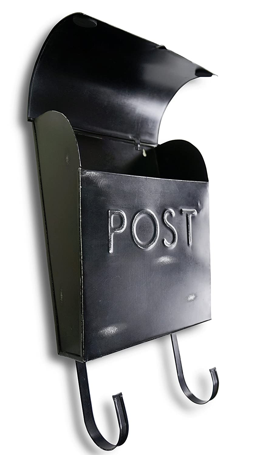 12 x 11.2 x 4.5 inch North American Country Home Wall Mounted Post Box Black NACH TH-10016 Euro Rustic Mailbox