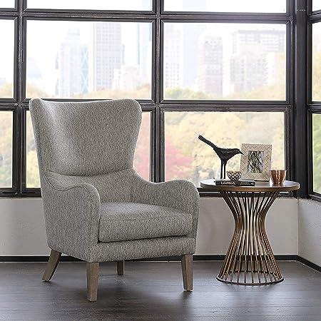 Arianna Swoop Wing Chair Grey See Below